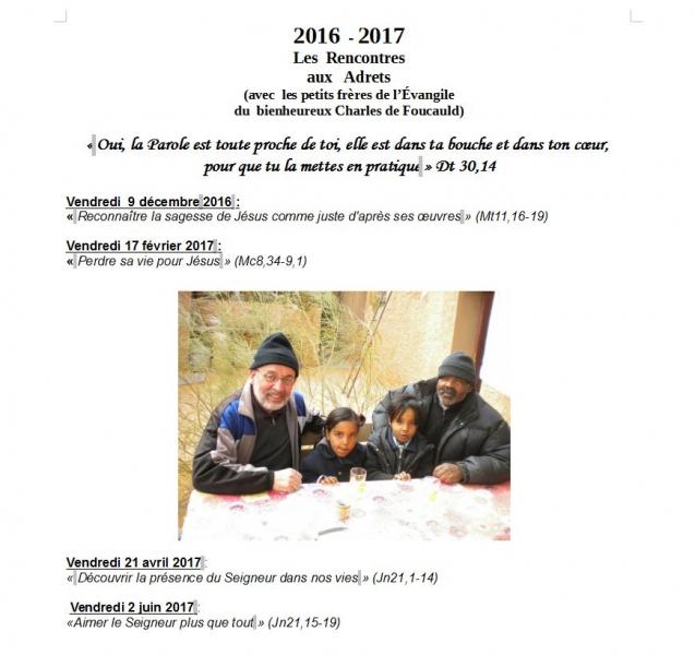 Programe des rencontres 2017 - La Roque